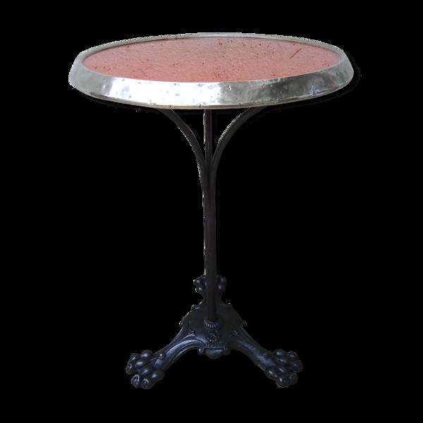 Table guéridon de bistrot 1900