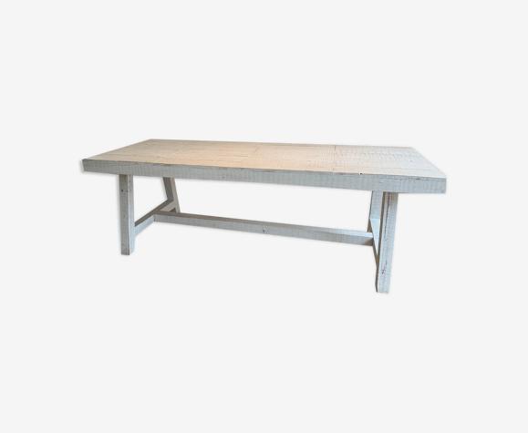 """Table à manger blanche """"blanc d'ivoire"""""""