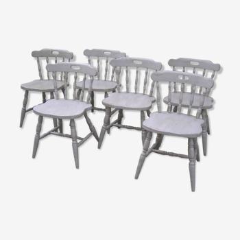 Set de 6 chaises western