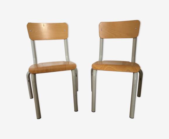 Paire de chaises enfant