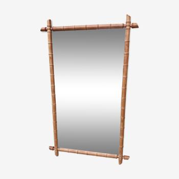 Miroir entourage bois style bambou