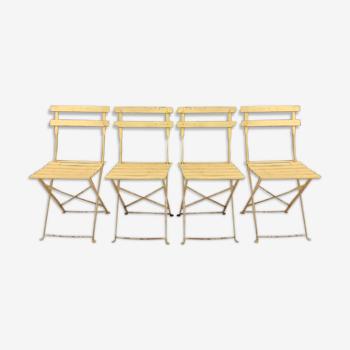 4 chaises pliantes années 50