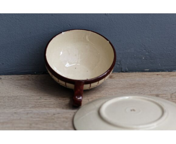 Service à thé, café, faience de Longchamp, années 50