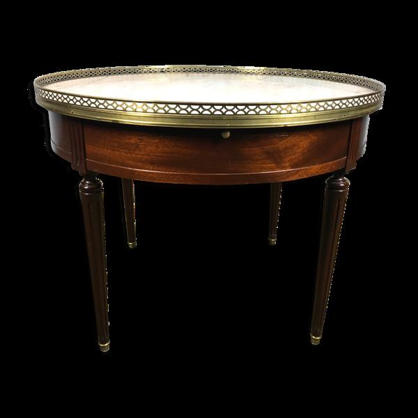 Table basse bouillotte acajou Louis XVI