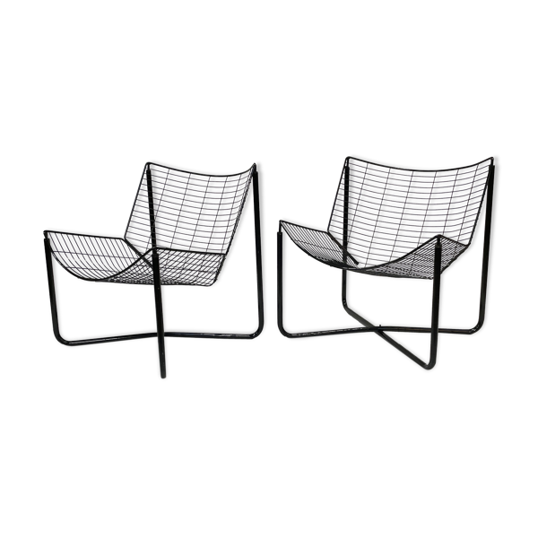 Selency Fauteuils Jarpen vintage Niels Gammelgaard pour Ikea set of two