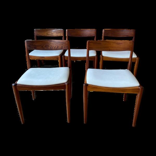 Suite de 5 chaises Moderntone originales de 1965