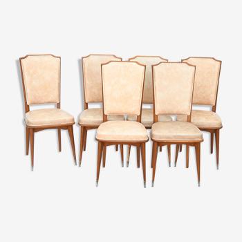 6 chaises vintage des années 1960