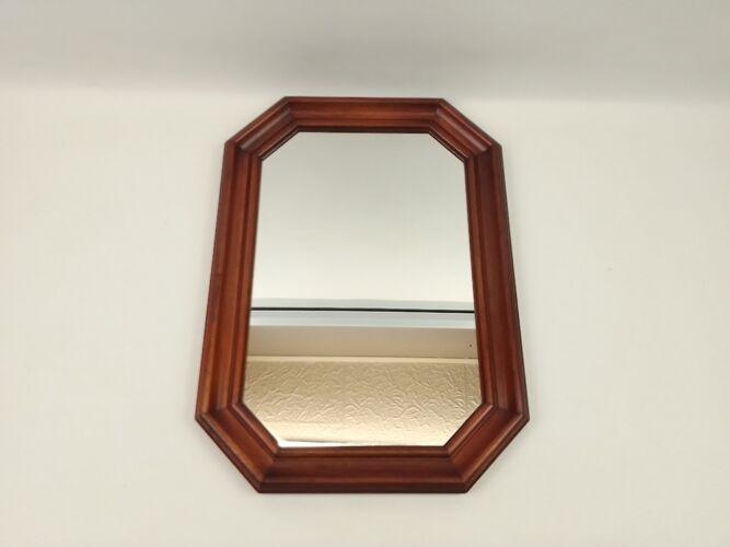 Miroir octogonal encadrement en bois 45 x 325cm