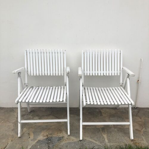 Lot of 2 vintage garden chairs designer R Gleizes