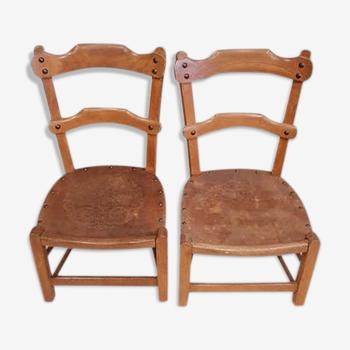 Lot de 2 chaises enfant