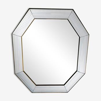 Miroir octogonal  à pare closes  65 x 77 cm