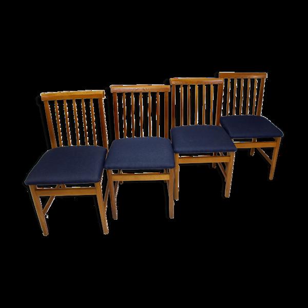 Selency Set de 4 chaises scandinaves des années 50