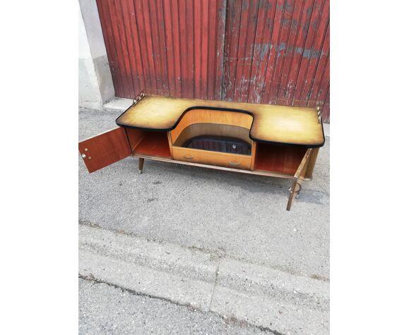 Commode vintage 2 portes 1 tiroir pieds compas