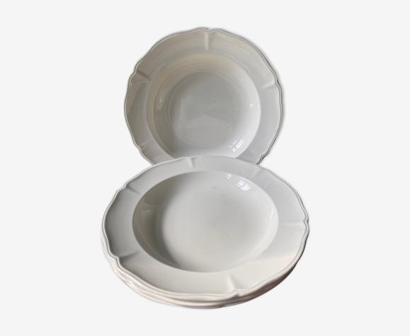 Lot de 4 assiettes creuses Villeroy & Boch, collection Mettlach