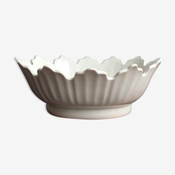 Plat rafraîchissoir à verre en porcelaine blanche de Limoges