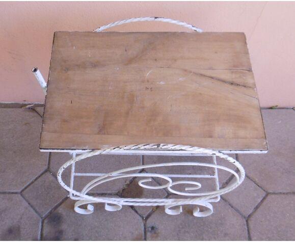 Table desserte de jardin en fer forgé