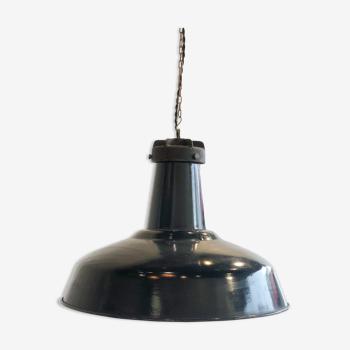 Lampe industrielle émaillée et fonte