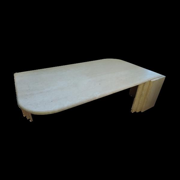 Table basse marbre travertin