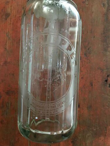 Schweppes brand sparkling water syphon bottle