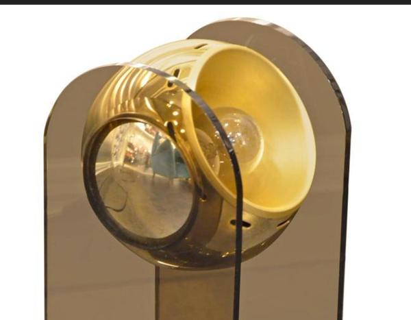 Lampe chrome doré