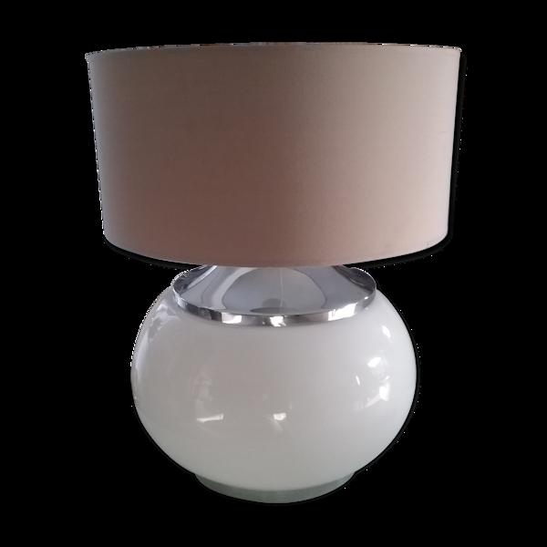 Lampe de table boule en verre Murano vintage années 70 – style art déco