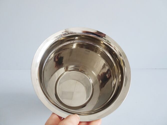 Refroidisseur de champagne argenté en aluminium