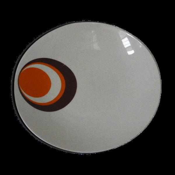 Plat creux en porcelaine blanche