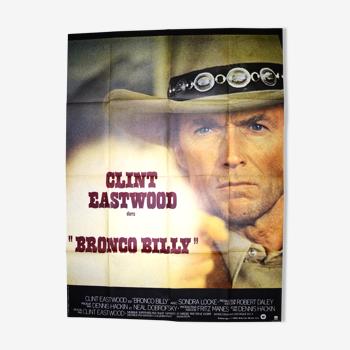 """Affiche originale cinéma """"Bronco Billy """"1980 Clint Eastwood,Lewis..."""