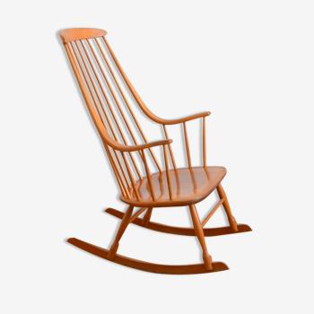 Rocking chair Scandinave « Grandessa » Lena Larsson 1960s