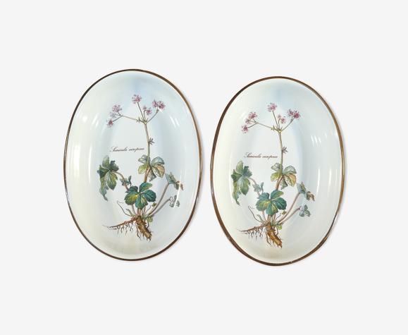 Set de 2 raviers ramequins ovale Villeroy et Boch modele botanica