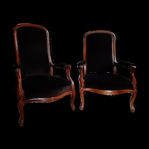 Selency Paire de fauteuils Voltaire
