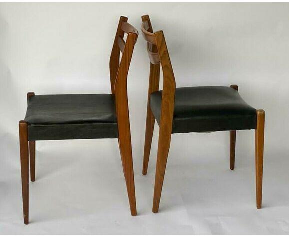 Paire de chaises scandinaves 1960