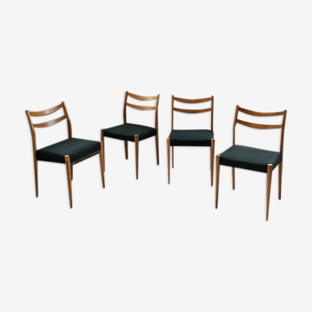 Set 4 chaises scandinaves vertes
