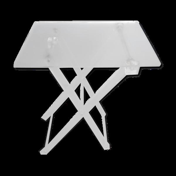 Table pliante en plexiglas époque 1970
