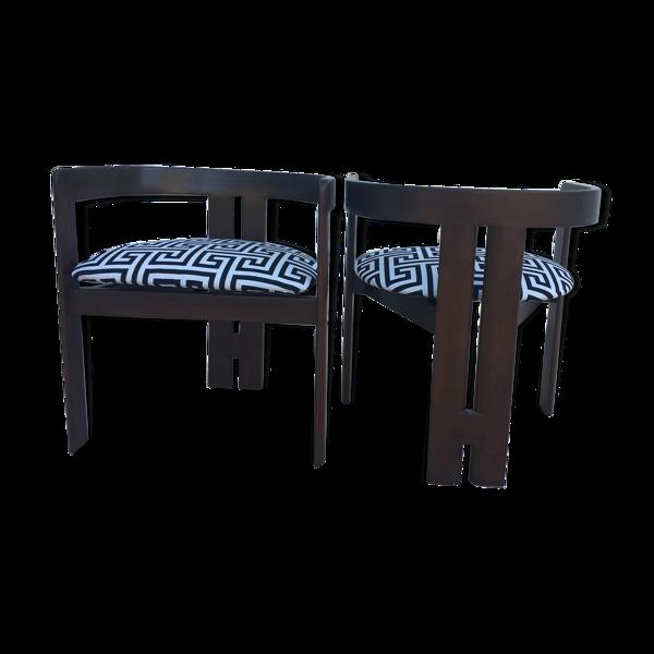 Paire de chaises Tobia Scarpa pour Gavina modèle  Pigreco