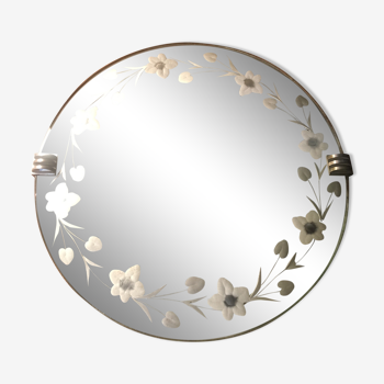 Miroir rond style art déco Ø 36