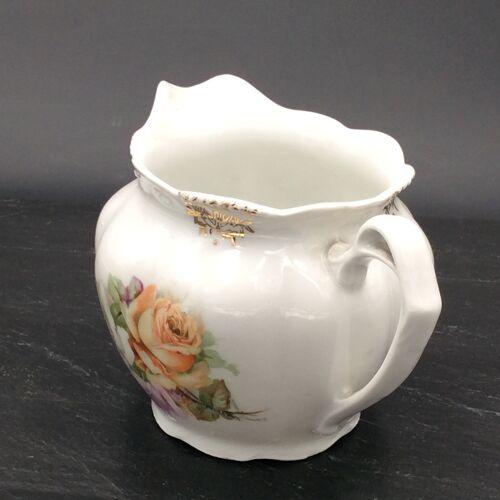 Old Porcelain Milk Pot of Paris Bouquet of Roses