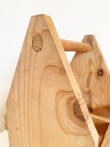 Porte bouteilles en bois