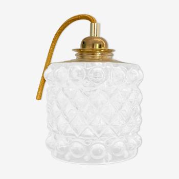 Baladeuse globe vintage en verre