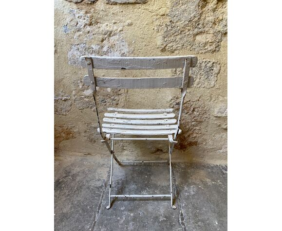 Chaise pliante enfant blanche