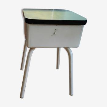 Tabouret formica avec coffre 1960