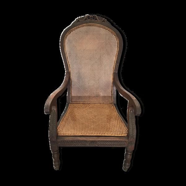 Selency Fauteuil bois du XIXe siècle