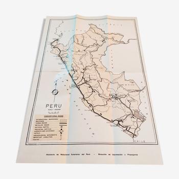 Carte touristique du Pérou