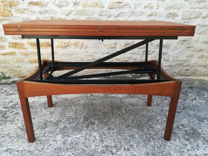 Table  modulable  en  teck