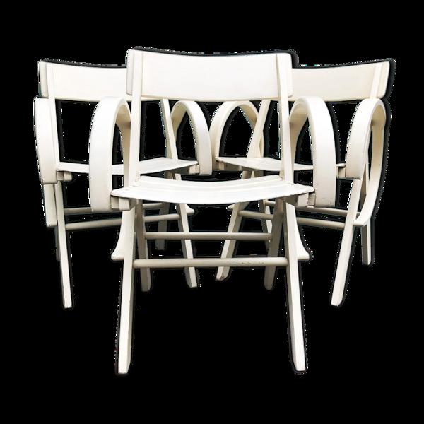 Ensemble 3 fauteuils de jardin 60