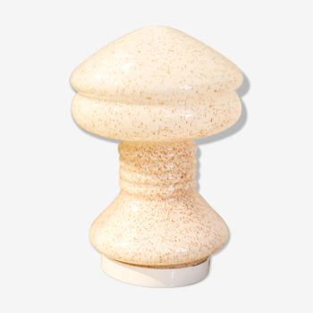 Lampe champignon en verre moucheté