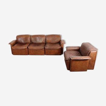 De Sede DS12 set of sofa and club flesh
