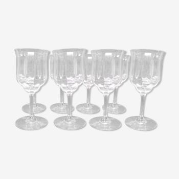 8 verres en cristal de Baccarat modèle Capri signés H 15cm