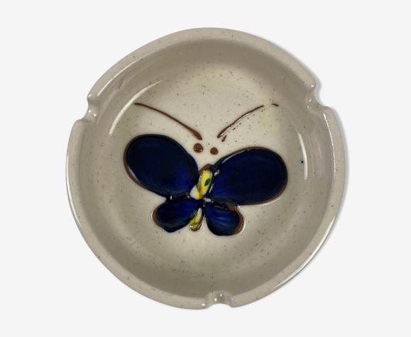 Cendrier en céramique vintage papillon