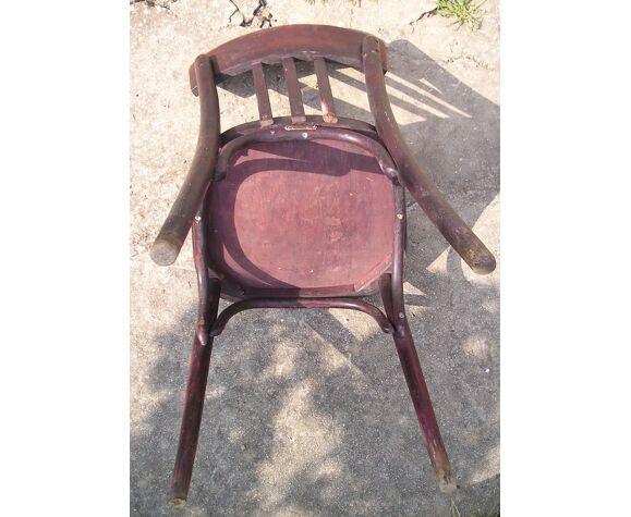 Chaise de bistrot ancienne avec plaque Joseph